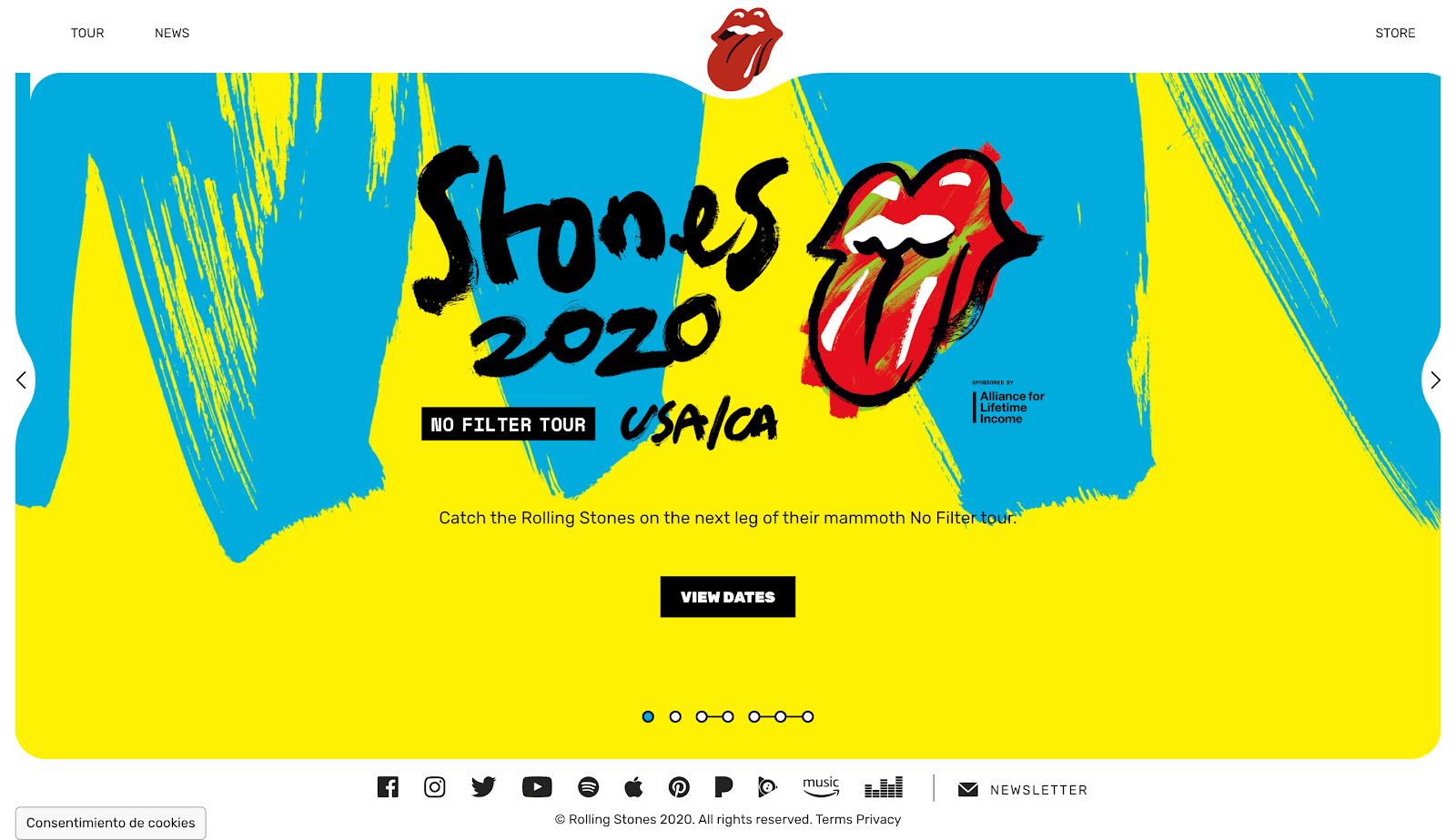 Stones 2020 web wordpress